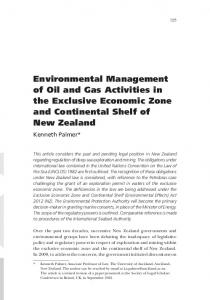Environmental Management of Oil and Gas Activities in the Exclusive ...