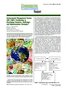 Environmental Management System (ISO 14001) - ACS Publications