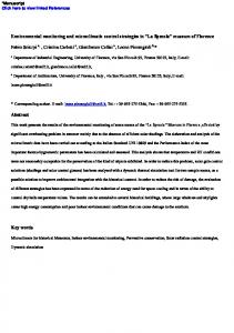 Environmental monitoring and microclimatic control ...
