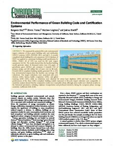 Environmental Performance of Green Building ... - ACS Publications
