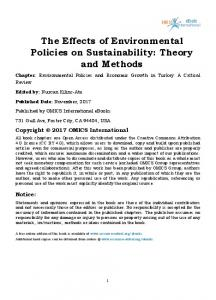 Environmental Policies and Economic Growth in Turkey