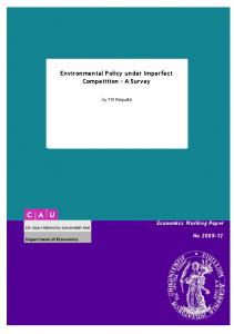 Environmental Policy under Imperfect Competition - A ... - CiteSeerX