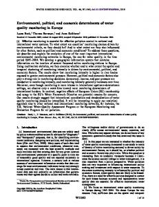 Environmental, political, and economic ... - Wiley Online Library