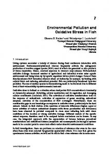Environmental Pollution and Oxidative Stress in Fish - InTechOpen