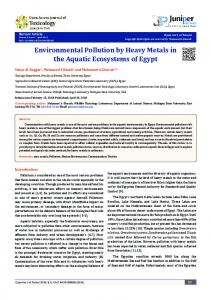 Environmental Pollution by Heavy Metals in the ... - Juniper Publishers