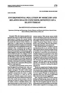 environmental pollution by mercury and related health concerns