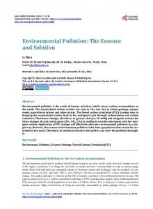 Environmental Pollution - Scientific Research Publishing