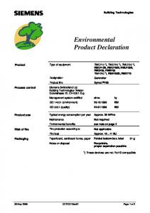 Environmental Product Declaration - GRUP DAP
