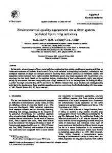 Environmental quality assessment on a river system polluted by ...