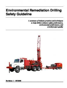 Environmental Remediation Drilling Safety Guideline