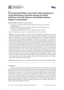 Environmental Risks Associated with Symptoms of Acute Respiratory ...