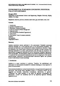 Environmental Standards Concerning Industrial Pollution Discharge