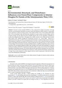 Environmental, Structural, and Disturbance Influences over ... - MDPI