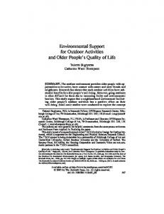 Environmental Support for Outdoor Activities and Older ... - UQ eSpace