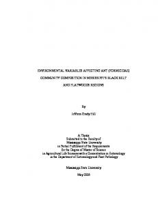 ENVIRONMENTAL VARIABLES AFFECTING ANT (FORMICIDAE ...