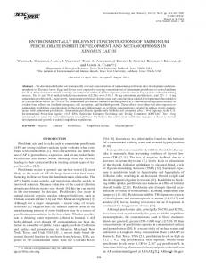 Environmentally relevant concentrations of ... - Wiley Online Library