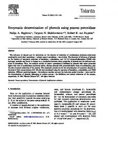 Enzymatic determination of phenols using peanut peroxidase