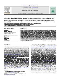 Enzymatic grafting of simple phenols on flax and sisal ... - CiteSeerX