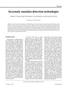Enzymatic mutation detection technologies - BioTechniques