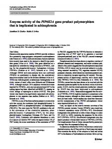 Enzyme activity of the PIP4K2A gene product ... - Springer Link