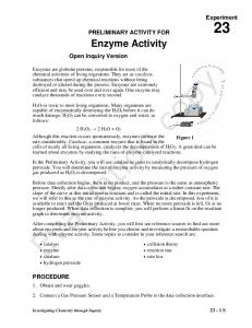 Enzyme Activity - Vernier Software & Technology