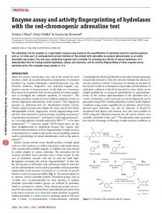 Enzyme assay and activity fingerprinting of hydrolases with the red ...