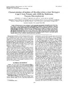 Enzyme Electrophoresis - Journal of Clinical Microbiology - American ...