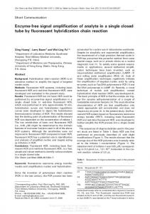 Enzyme-free signal amplification of analyte in a single ...