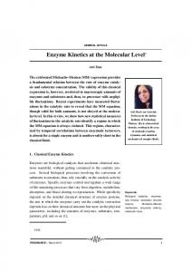 Enzyme Kinetics at the Molecular Level