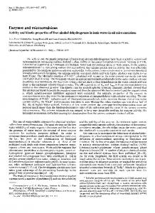 Enzymes and microemulsions - FEBS Press