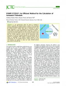 EOMIP-CCSD(2)*: An Efficient Method for the ... - ACS Publications