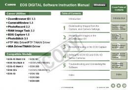 EOS DIGITAL Software Instruction Manual - Canon
