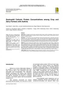 Eosinophil Cationic Protein Concentrations among ...
