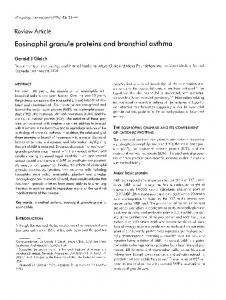 Eosinophil granule proteins and bronchial asthma