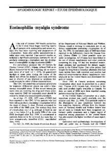 Eosinophilia-myalgia syndrome - Europe PMC