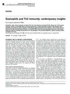 Eosinophils and Th2 immunity - Wiley Online Library