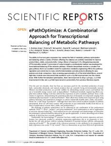 ePathOptimize: A Combinatorial Approach for ... - Semantic Scholar