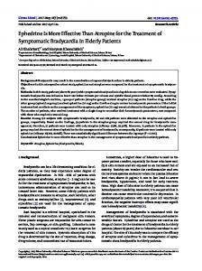 Ephedrine Is More Effective Than Atropine for the Treatment of ...