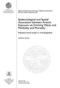 Epidemiological and Spatial Association between Arsenic ... - DiVA