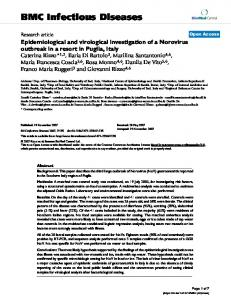 Epidemiological and virological investigation of a Norovirus outbreak