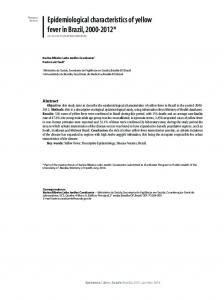 Epidemiological characteristics of yellow fever in Brazil, 2000 ... - SciELO