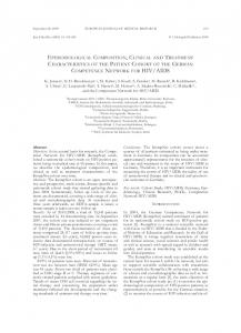 epidemiological composition, clinical and treatment ... - Springer Link