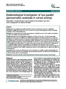 Epidemiological investigation of two parallel gastroenteritis outbreaks ...