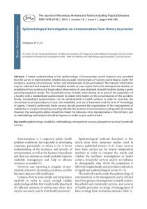 Epidemiological investigation on envenomation: from theory ... - SciELO
