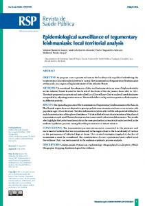 Epidemiological surveillance of tegumentary
