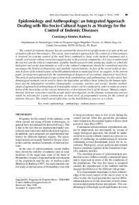 Epidemiology and Anthropology: an Integrated Approach Dealing with