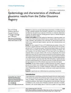 Epidemiology and characteristics of childhood ... - Semantic Scholar