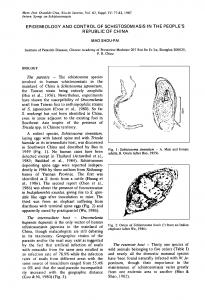 epidemiology and control of schistosomiasis in the people's ... - SciELO