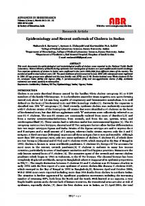 Epidemiology and Recent outbreak of Cholera in Sudan - Society of ...