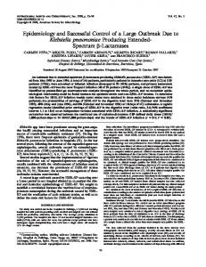 Epidemiology and Successful Control of a Large Outbreak Due to ...